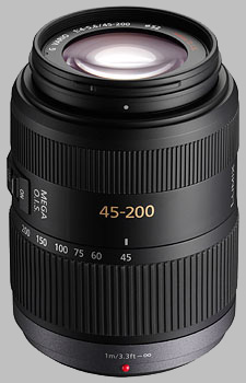 image of the Panasonic 45-200mm f/4-5.6 MEGA OIS LUMIX G VARIO lens