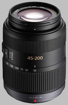 image of the Panasonic 45-200mm f/4-5.6 MEGA OIS LUMIX G VARIO lens