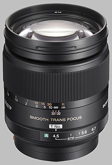 image of the Sony 135mm f/2.8 (T4.5) STF SAL-135F28 lens