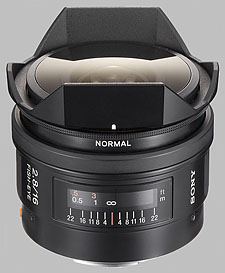 image of the Sony 16mm f/2.8 Fisheye SAL-16F28 lens