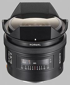 image of the Sony 16mm f/2.8 Fisheye SAL-16F28 lens