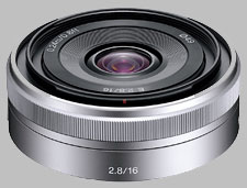 image of the Sony E 16mm f/2.8 SEL16F28 lens