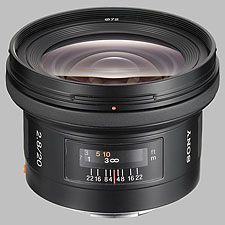 image of the Sony 20mm f/2.8 SAL-20F28 lens