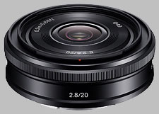 image of the Sony E 20mm f/2.8 SEL20F28 lens