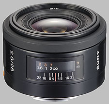 image of the Sony 28mm f/2.8 SAL-28F28 lens