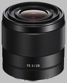image of the Sony FE 28mm f/2 SEL28F20 lens