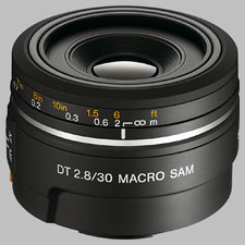 image of the Sony 30mm f/2.8 DT Macro SAM SAL-30M28 lens