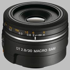 image of the Sony 30mm f/2.8 DT Macro SAM SAL-30M28 lens