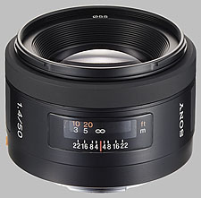 image of the Sony 50mm f/1.4 SAL-50F14 lens
