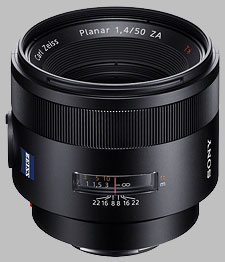 image of the Sony 50mm f/1.4 ZA SSM Carl Zeiss Planar T* SAL50F14Z lens