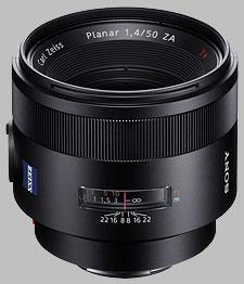 image of the Sony 50mm f/1.4 ZA SSM Carl Zeiss Planar T* SAL50F14Z lens