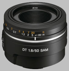 image of the Sony 50mm f/1.8 DT SAM SAL-50F18 lens
