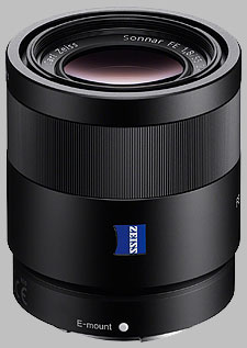image of the Sony FE 55mm f/1.8 ZA Carl Zeiss Sonnar T* SEL55F18Z lens