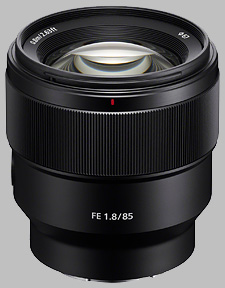 image of the Sony FE 85mm f/1.8 SEL85F18 lens