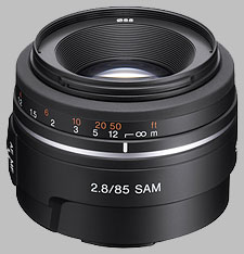 image of the Sony 85mm f/2.8 SAM SAL85F28 lens