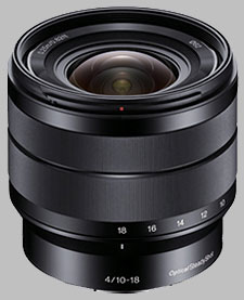 image of the Sony E 10-18mm f/4 ED OSS SEL1018 lens