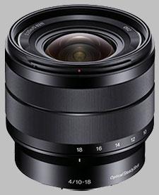 image of the Sony E 10-18mm f/4 ED OSS SEL1018 lens