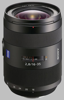 image of the Sony 16-35mm f/2.8 Carl Zeiss Vario-Sonnar T* SAL-1635ZA lens