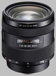 image of the Sony 16-50mm f/2.8 DT SSM SAL1650 lens