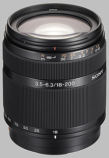 image of the Sony 18-200mm f/3.5-6.3 DT SAL-18200 lens