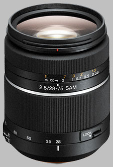 image of the Sony 28-75mm f/2.8 SAM SAL-2875 lens