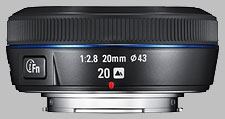 image of the Samsung 20mm f/2.8 NX lens