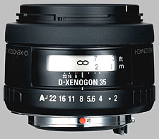 image of the Samsung 35mm f/2 AL Schneider D-XENOGON lens