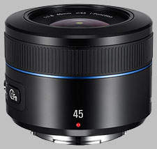 image of the Samsung 45mm f/1.8 NX lens