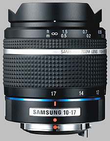 image of the Samsung 10-17mm f/3.5-4.5 Fish-Eye Schneider D-XENON lens