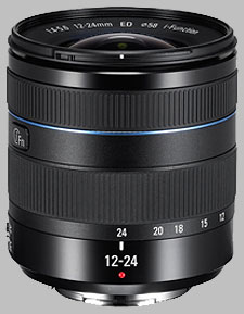 image of the Samsung 12-24mm f/4-5.6 ED NX lens