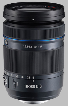 image of the Samsung 18-200mm f/3.5-6.3 ED OIS NX lens