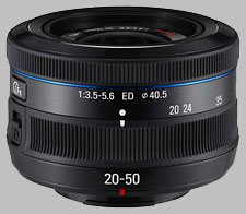 image of the Samsung 20-50mm f/3.5-5.6 ED II NX lens