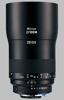 image of the Zeiss 100mm f/2 Macro Milvus 2/100M lens
