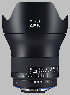 image of the Zeiss 18mm f/2.8 Milvus 2.8/18 lens