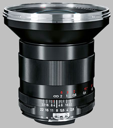image of the Carl Zeiss 21mm f/2.8 Distagon T* 2.8/21 lens
