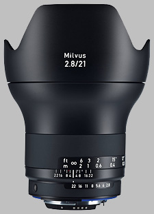 image of the Zeiss 21mm f/2.8 Milvus 2.8/21 lens