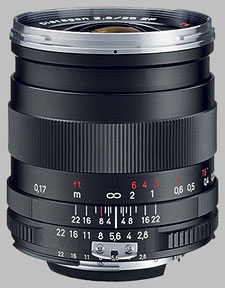 image of the Carl Zeiss 25mm f/2.8 Distagon T* 2.8/25 lens