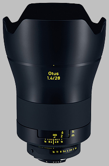 image of the Zeiss 28mm f/1.4 Otus 1.4/28 lens