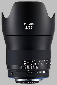 image of the Zeiss 35mm f/2 Milvus 2/35 lens