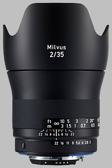 image of the Zeiss 35mm f/2 Milvus 2/35 lens