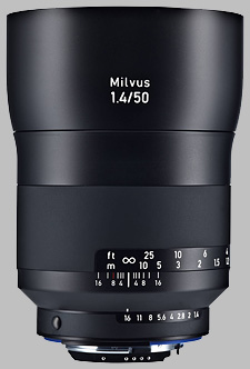 image of the Zeiss 50mm f/1.4 Milvus 1.4/50 lens
