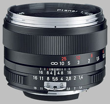 image of the Carl Zeiss 50mm f/1.4 Planar T* 1.4/50 lens