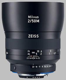 image of the Zeiss 50mm f/2 Macro Milvus 2/50M lens