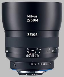 image of the Zeiss 50mm f/2 Macro Milvus 2/50M lens
