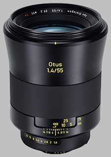 image of the Zeiss 55mm f/1.4 Otus 1.4/55 lens