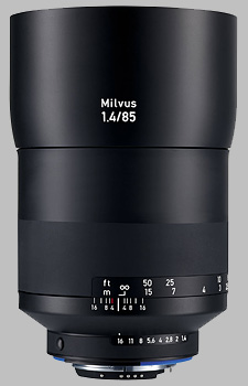 image of the Zeiss 85mm f/1.4 Milvus 1.4/85 lens