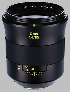 image of the Zeiss 85mm f/1.4 Otus 1.4/85 lens