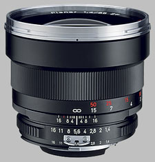 image of the Carl Zeiss 85mm f/1.4 Planar T* 1.4/85 lens