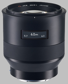 image of the Zeiss 85mm f/1.8 Batis 1.8/85 lens