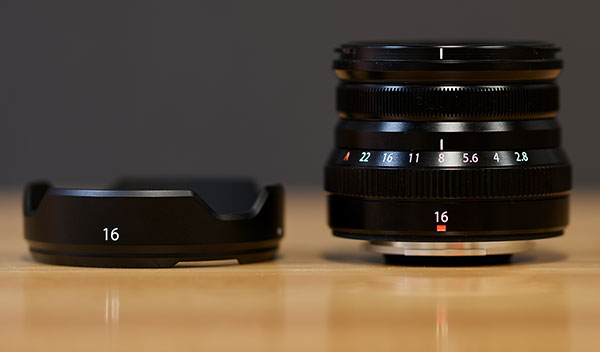Fuji XF 16mm f/2.8 R WR Review -- Product Image